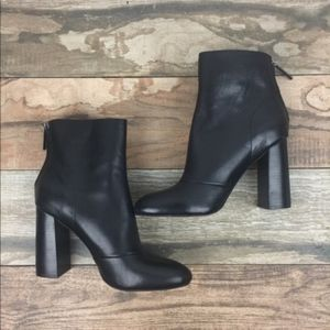 French Connection Black Heel Booties